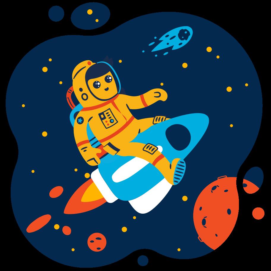 Space traveler Clipart illustration in PNG, SVG