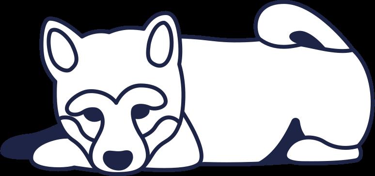 Клипарт Собака 2 линия в PNG и SVG