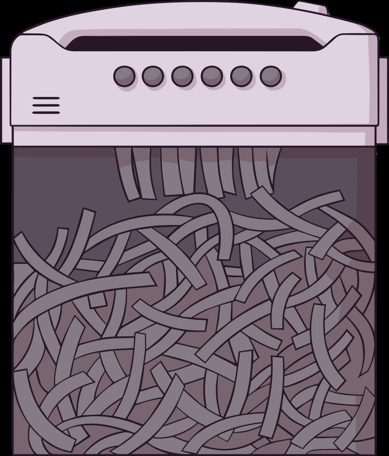 paper-shredder Clipart illustration in PNG, SVG