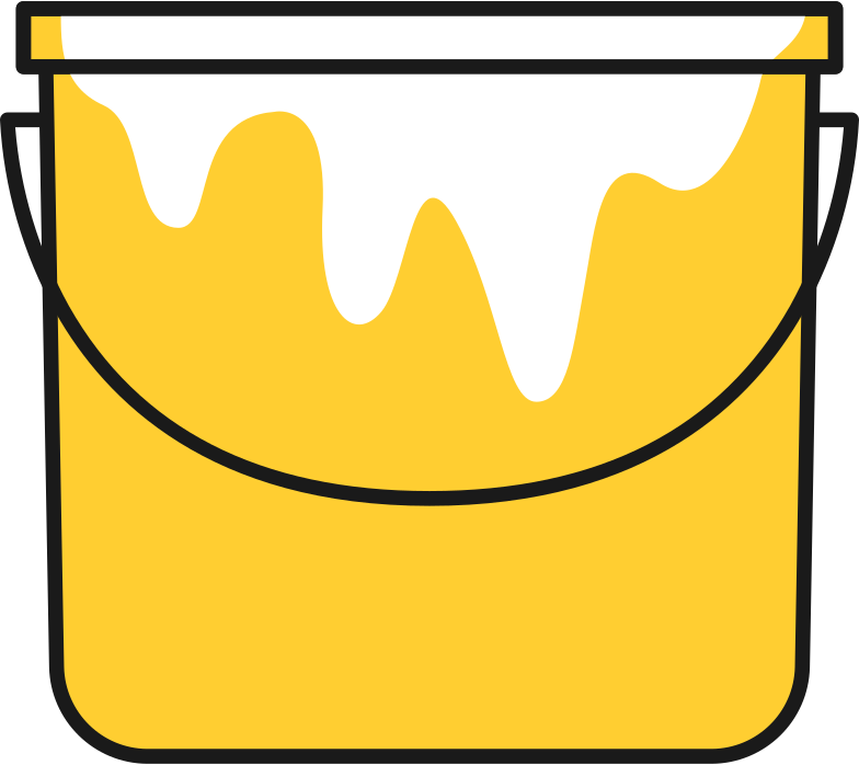 paint bucket Clipart illustration in PNG, SVG