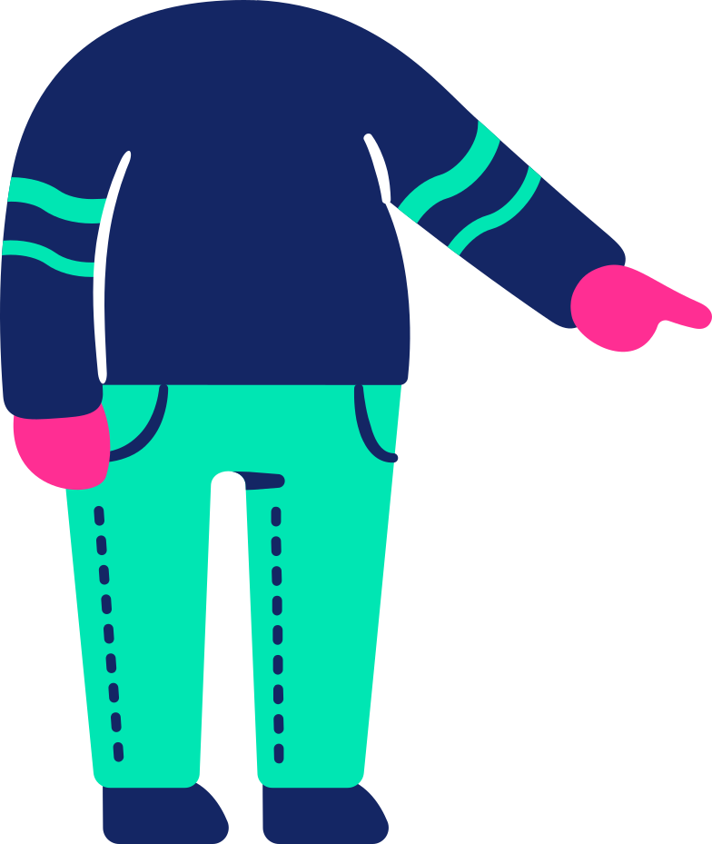 body pointing Clipart illustration in PNG, SVG