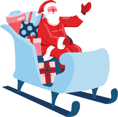 style santa in sleigh images in PNG and SVG | Icons8 Illustrations