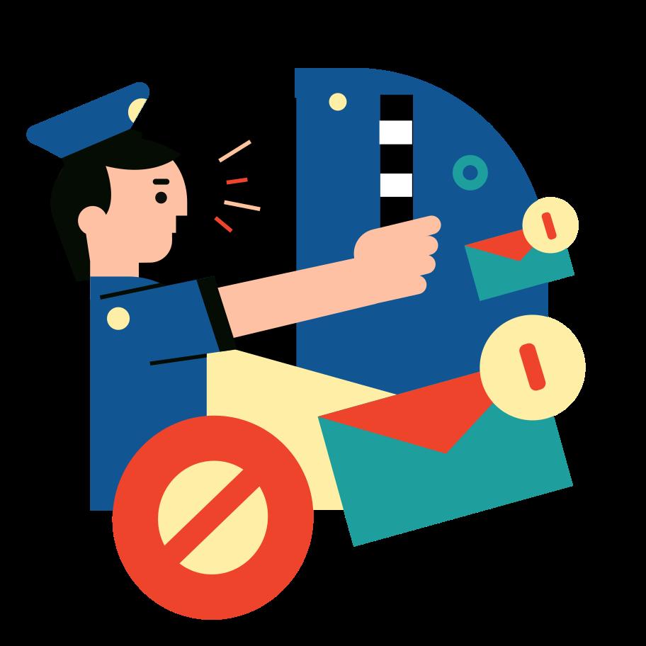 Stop spam Clipart illustration in PNG, SVG