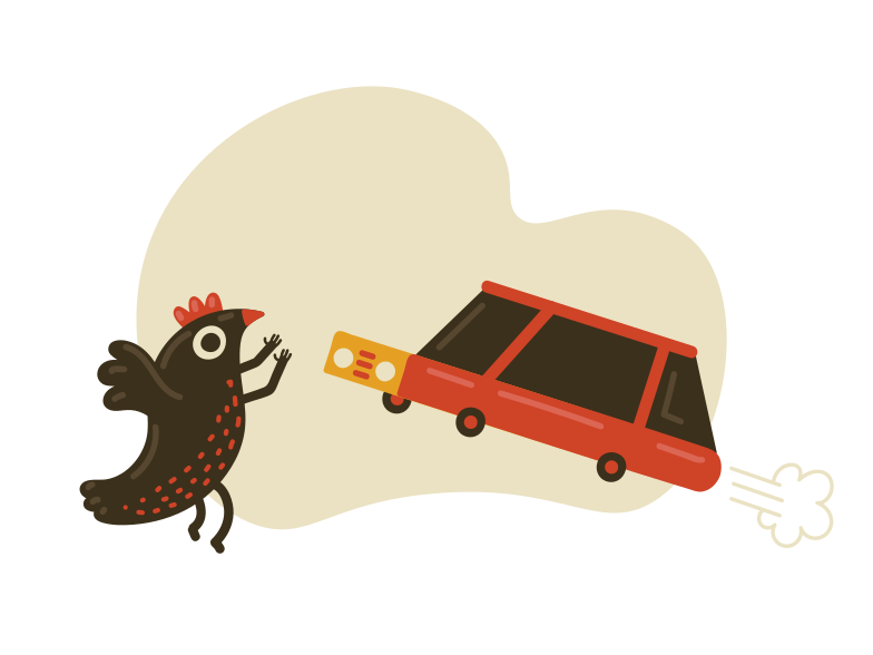 Car is ready  Clipart illustration in PNG, SVG