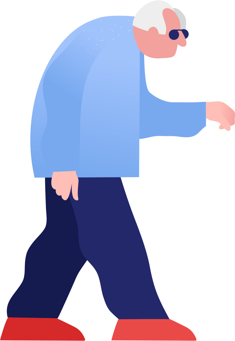 grandpa walking Clipart illustration in PNG, SVG