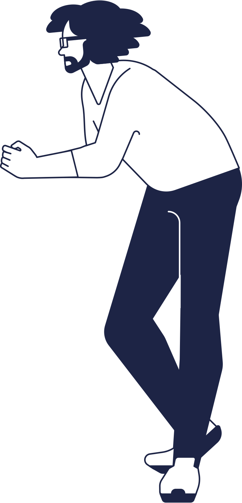 man at standing cafe Clipart illustration in PNG, SVG