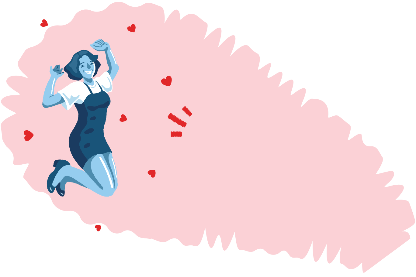 Put out a fire with love Clipart illustration in PNG, SVG