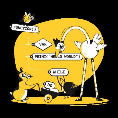 Иллюстрация программирование в стиле  в PNG и SVG | Icons8 Иллюстрации