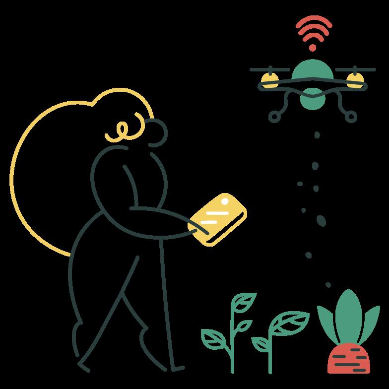Smart fertilizing Clipart illustration in PNG, SVG