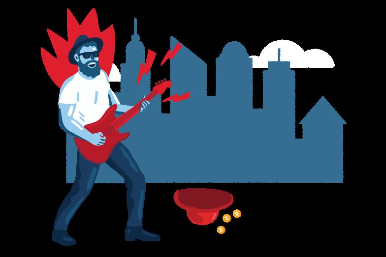 Street concert Clipart illustration in PNG, SVG