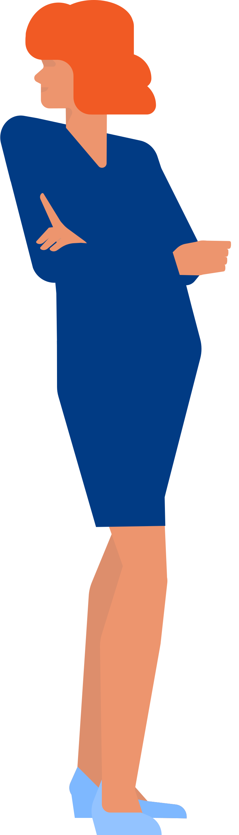 woman in lbd Clipart illustration in PNG, SVG