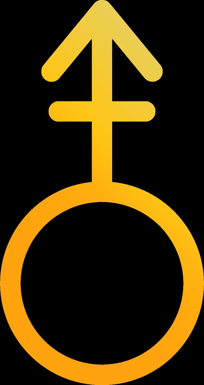 androgyne sign Clipart illustration in PNG, SVG