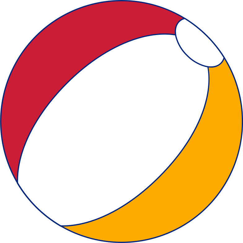 beach ball Clipart illustration in PNG, SVG