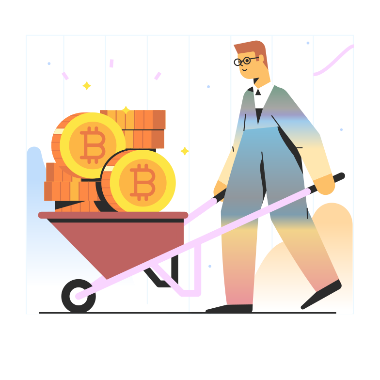 Bitcoin mining Clipart illustration in PNG, SVG