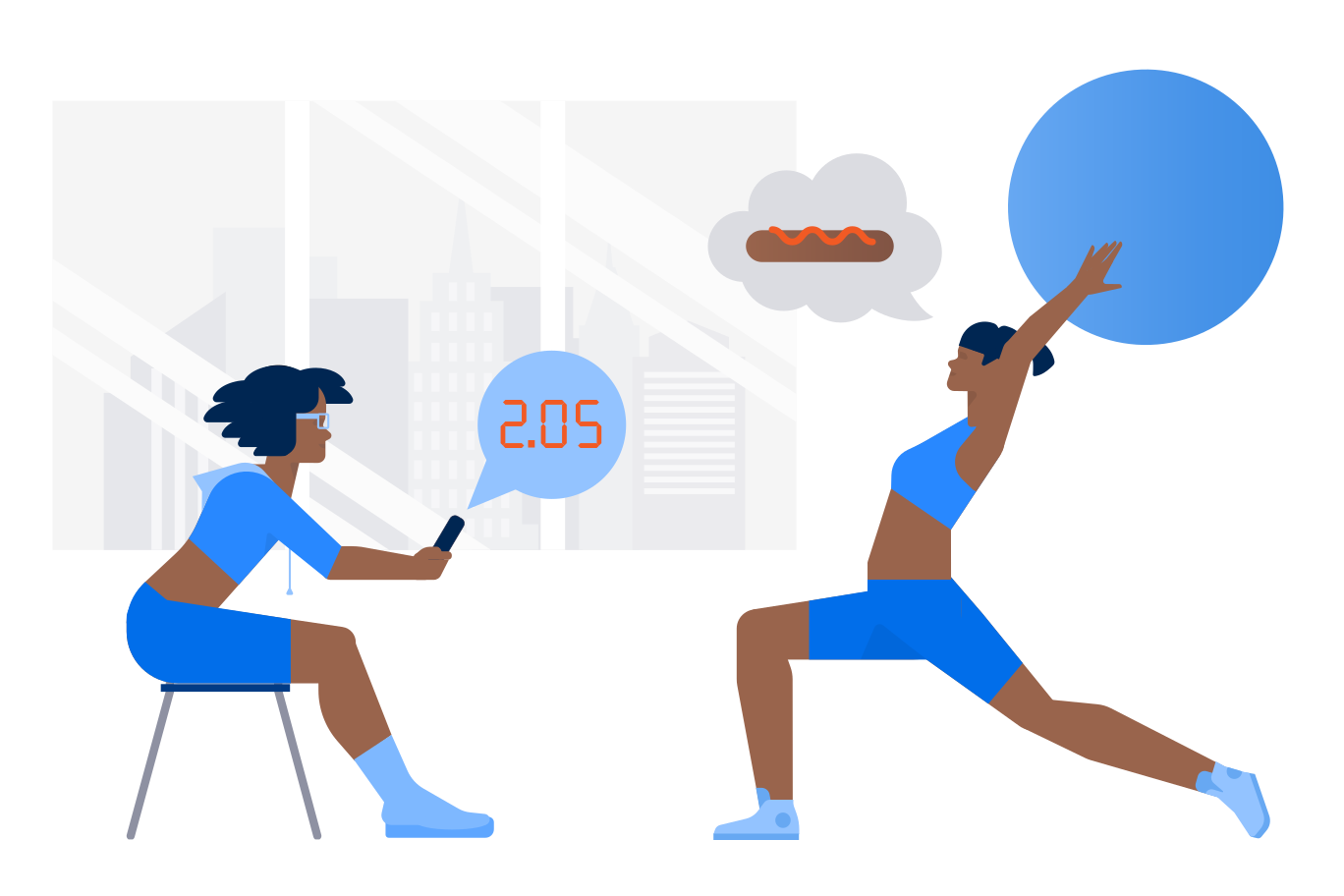 At the gym Clipart illustration in PNG, SVG