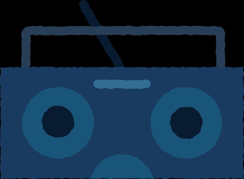 Ilustración de clipart de boombox en PNG, SVG