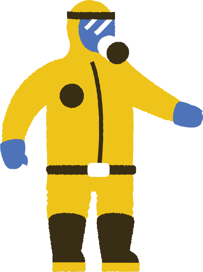 man in protective suit Clipart illustration in PNG, SVG