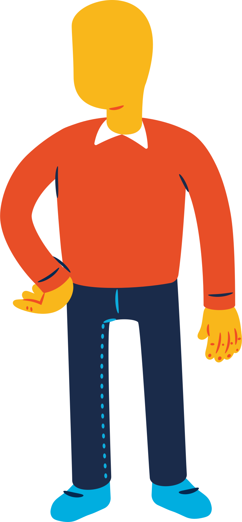 man standing Clipart illustration in PNG, SVG