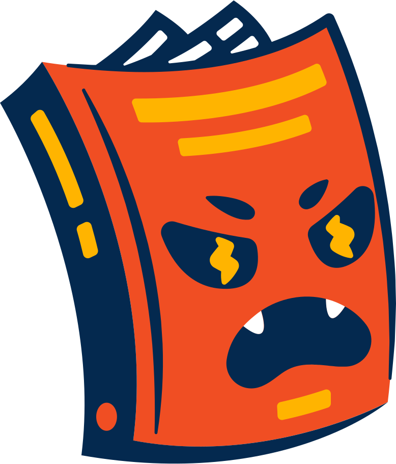 book angry Clipart illustration in PNG, SVG