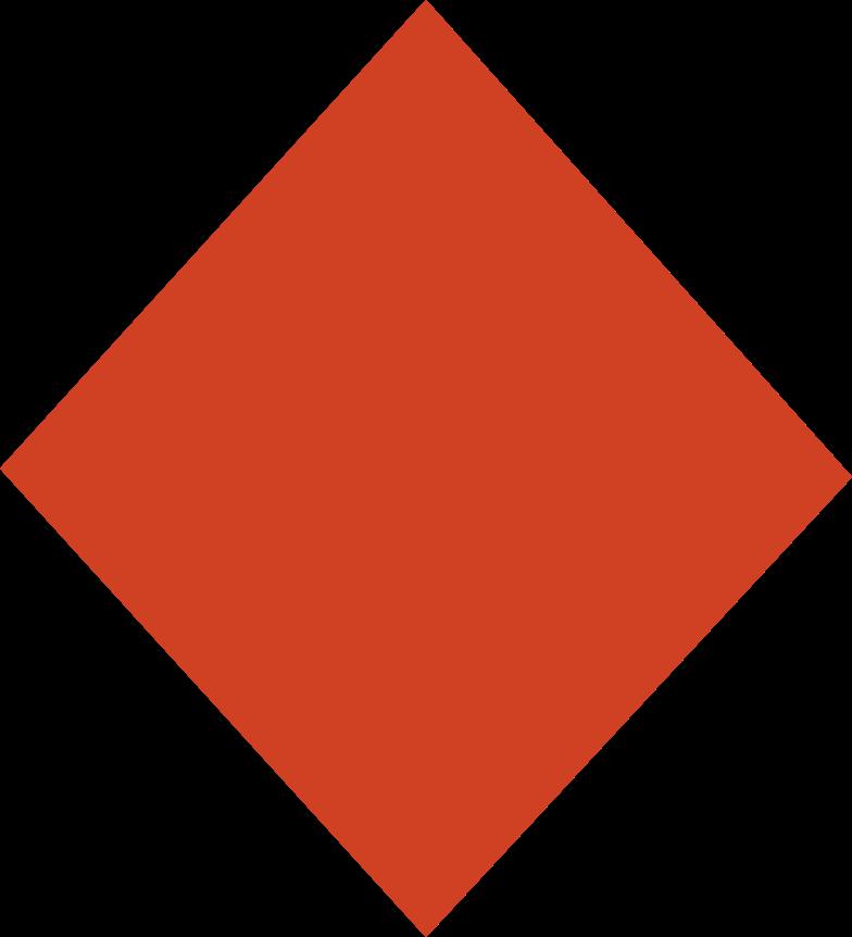rhombus red のPNG、SVGクリップアートイラスト
