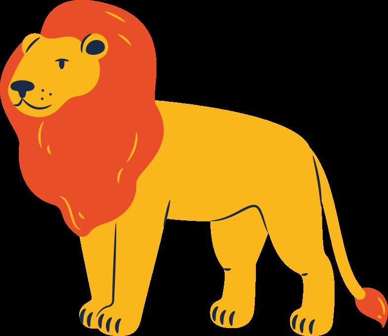 lion standing Clipart illustration in PNG, SVG