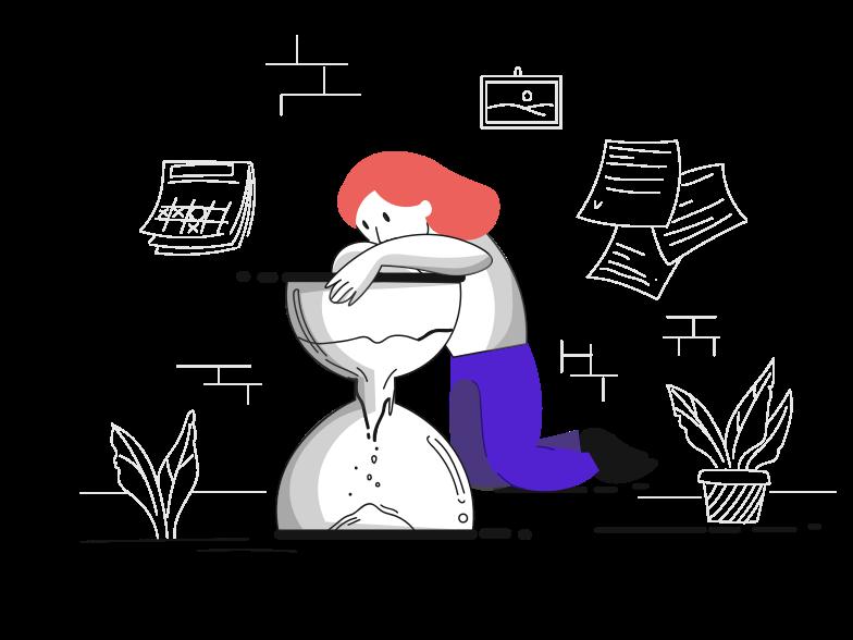 Time management Clipart illustration in PNG, SVG