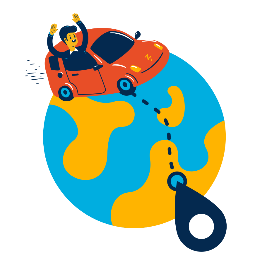 Around the world Clipart illustration in PNG, SVG