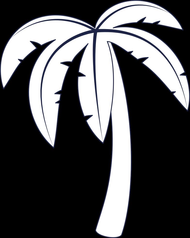message sent  palm tree 3 line Clipart illustration in PNG, SVG