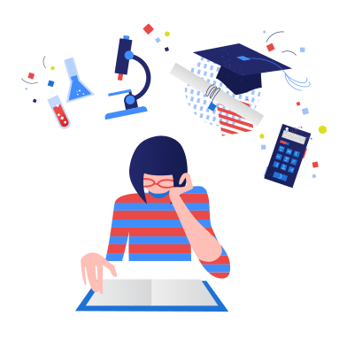 style Girl studying images in PNG and SVG   Icons8 Illustrations