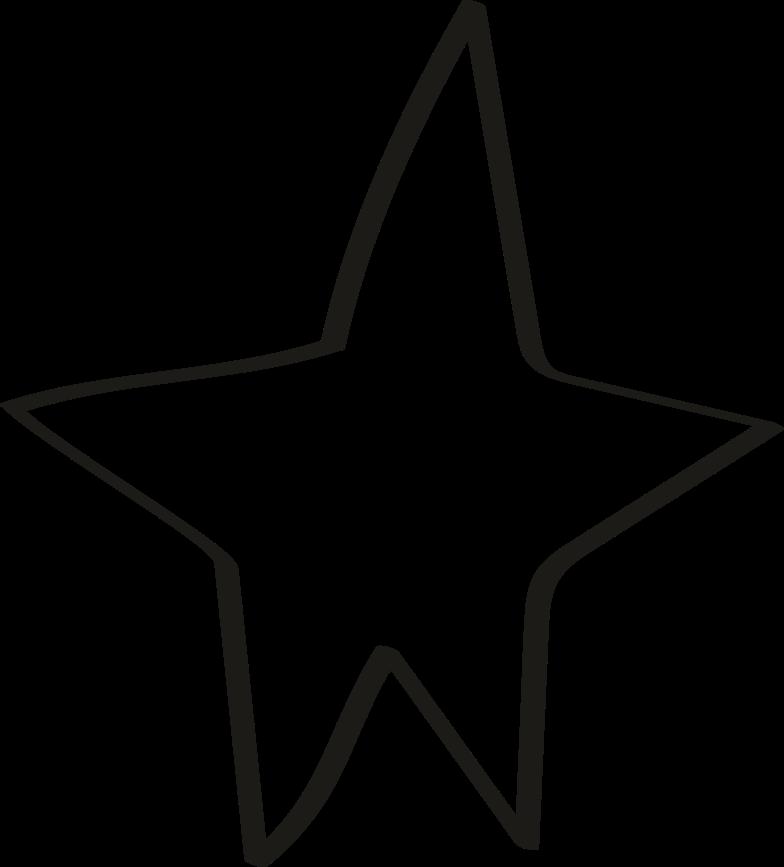 tk black line star Clipart illustration in PNG, SVG