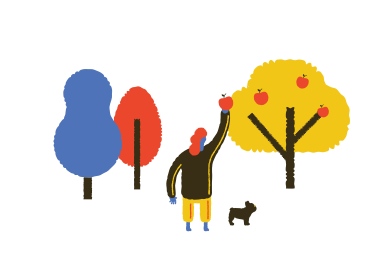 style Walk in the garden with dog  images in PNG and SVG | Icons8 Illustrations