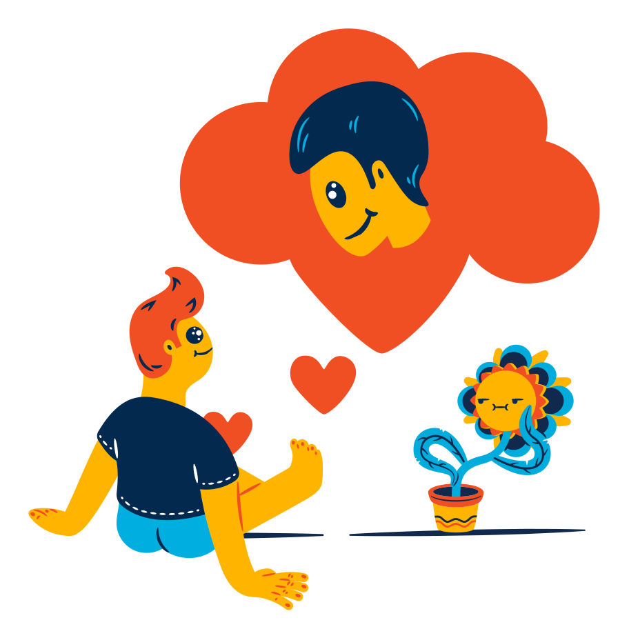 Thinking about you Clipart illustration in PNG, SVG