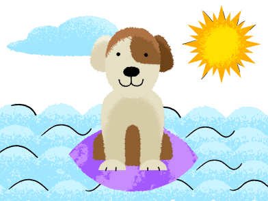 style Dog surfer images in PNG and SVG | Icons8 Illustrations