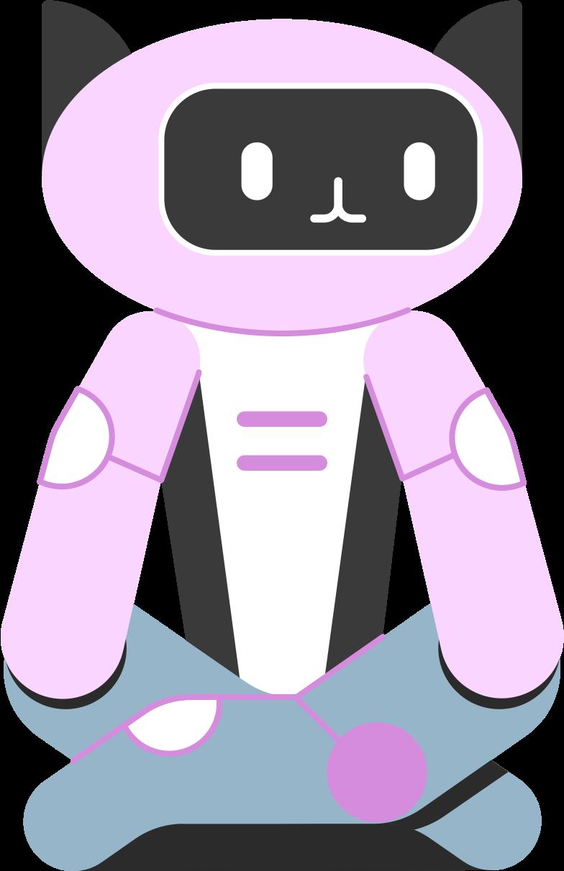 robot cat Clipart illustration in PNG, SVG