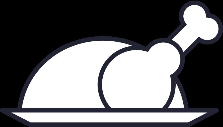 baked turkey Clipart illustration in PNG, SVG