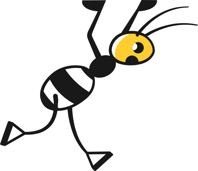 ant running Clipart illustration in PNG, SVG