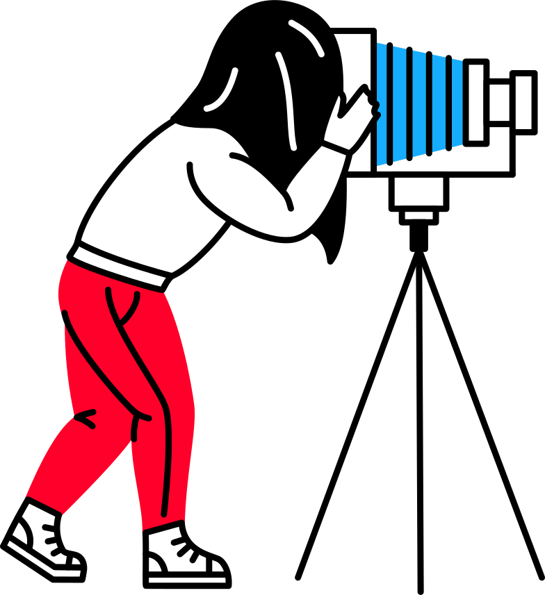 man with camera Clipart illustration in PNG, SVG