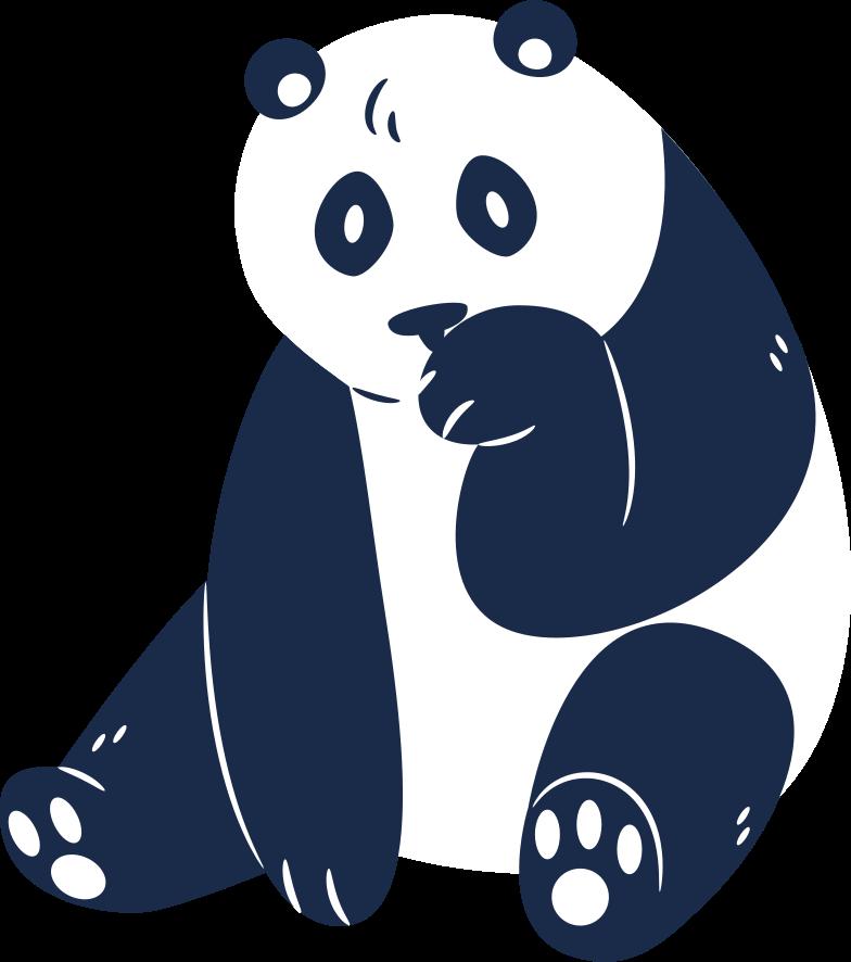 パンダ座っている のPNG、SVGクリップアートイラスト