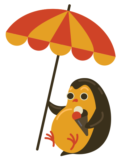 style Hiding from sun with an ice cream images in PNG and SVG | Icons8 Illustrations