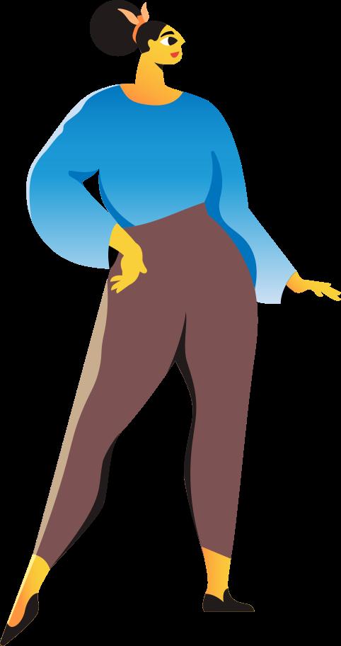 fashion model Clipart illustration in PNG, SVG