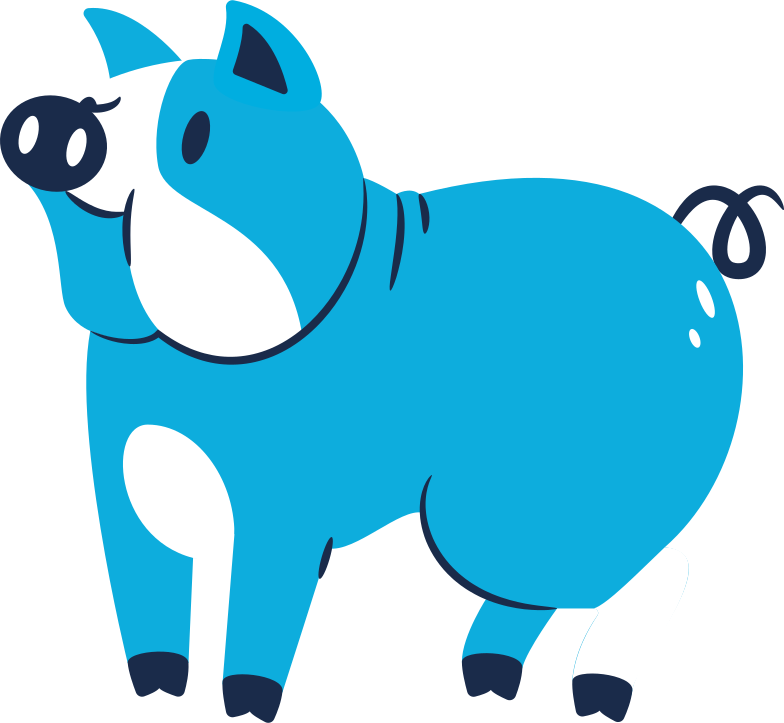 style pig standing Vector images in PNG and SVG | Icons8 Illustrations