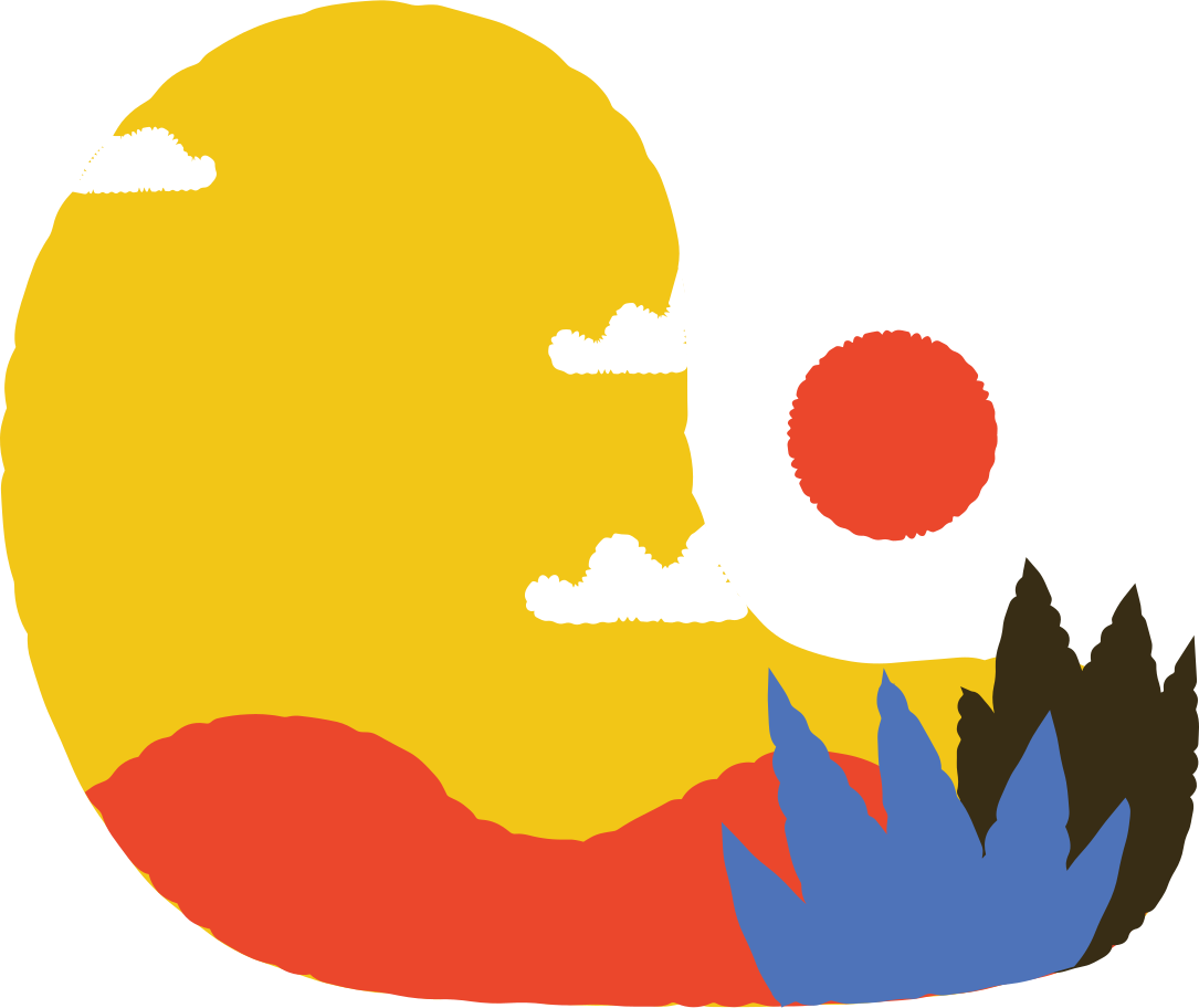 evening in the mountains Clipart illustration in PNG, SVG