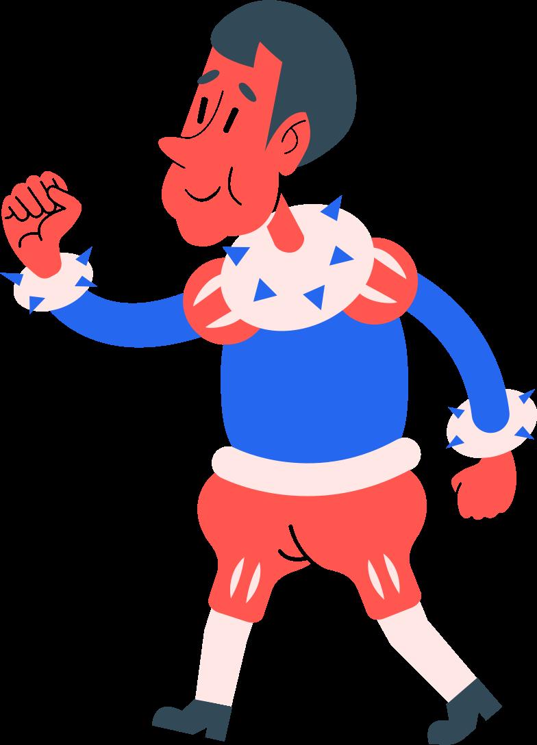 boy walking Clipart illustration in PNG, SVG