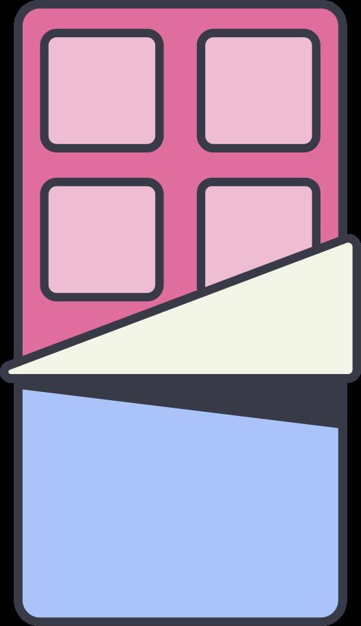 Ilustración de clipart de Barra de chocolate en PNG, SVG