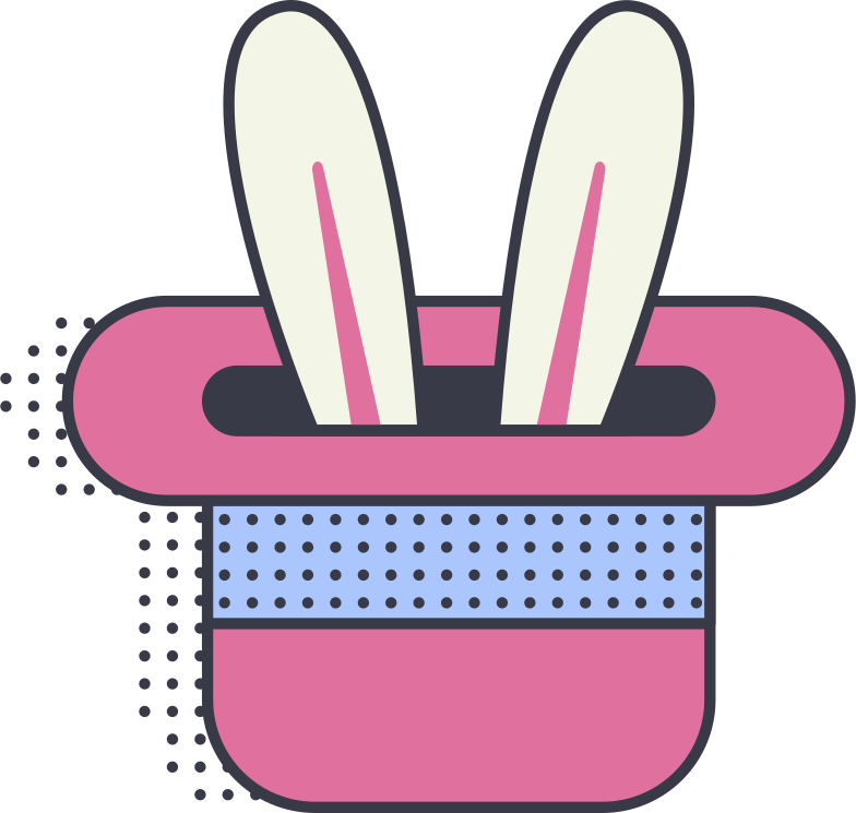 rabbit in a hat Clipart illustration in PNG, SVG