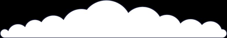 cloud 3 line Clipart illustration in PNG, SVG