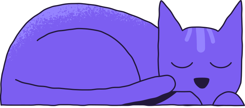 cat sleeping Clipart illustration in PNG, SVG