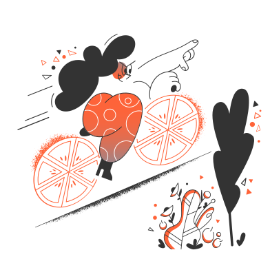 style Ride a bike in the forest images in PNG and SVG | Icons8 Illustrations