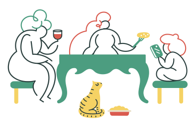 style Family dinner images in PNG and SVG | Icons8 Illustrations