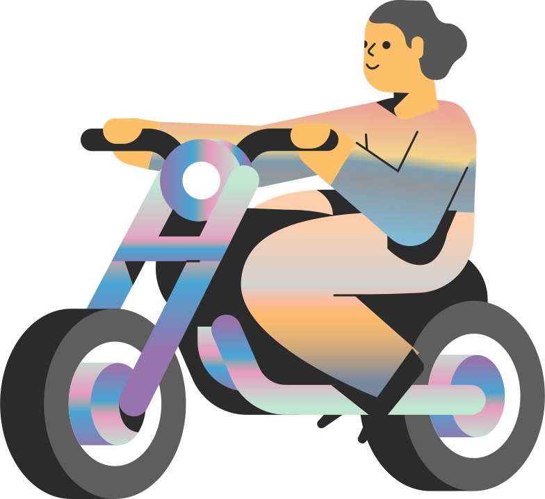 style motorcycle girl Vector images in PNG and SVG | Icons8 Illustrations